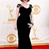 Mad Men's Christina Hendricks struck a pose on the red carpet.