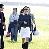 She had previously worn the skirt on many occasions, including while running errands around London and at the Badminton Horse Trials in 2007.