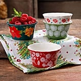 The Pioneer Woman Holiday 7 oz Ruffle-Top Ramekins, Assorted Designs, Set of 8 ($20)