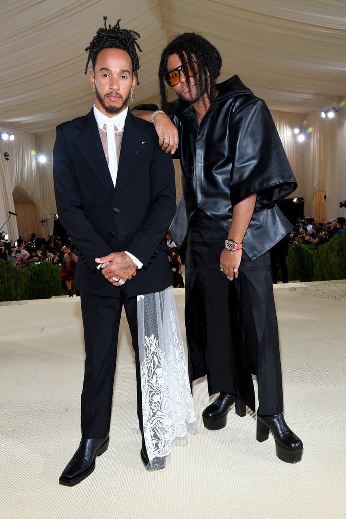 Lewis Hamilton and Stylist Law Roach at the Met Gala 2021