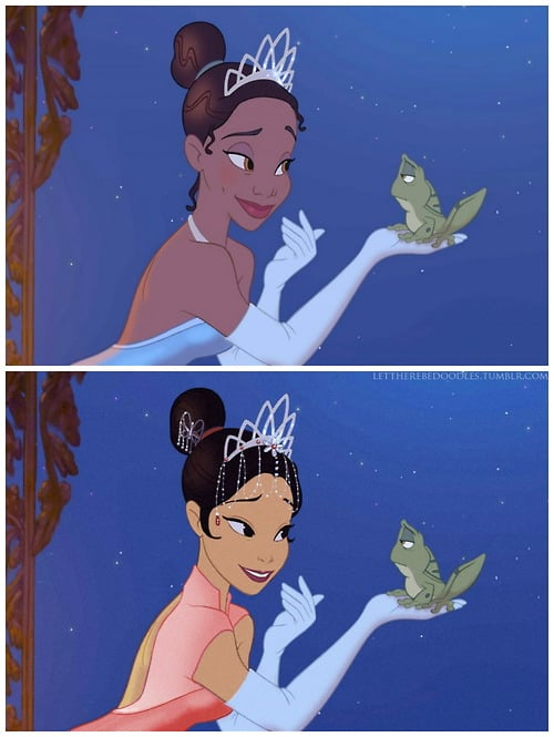 Tiana as a Different Race