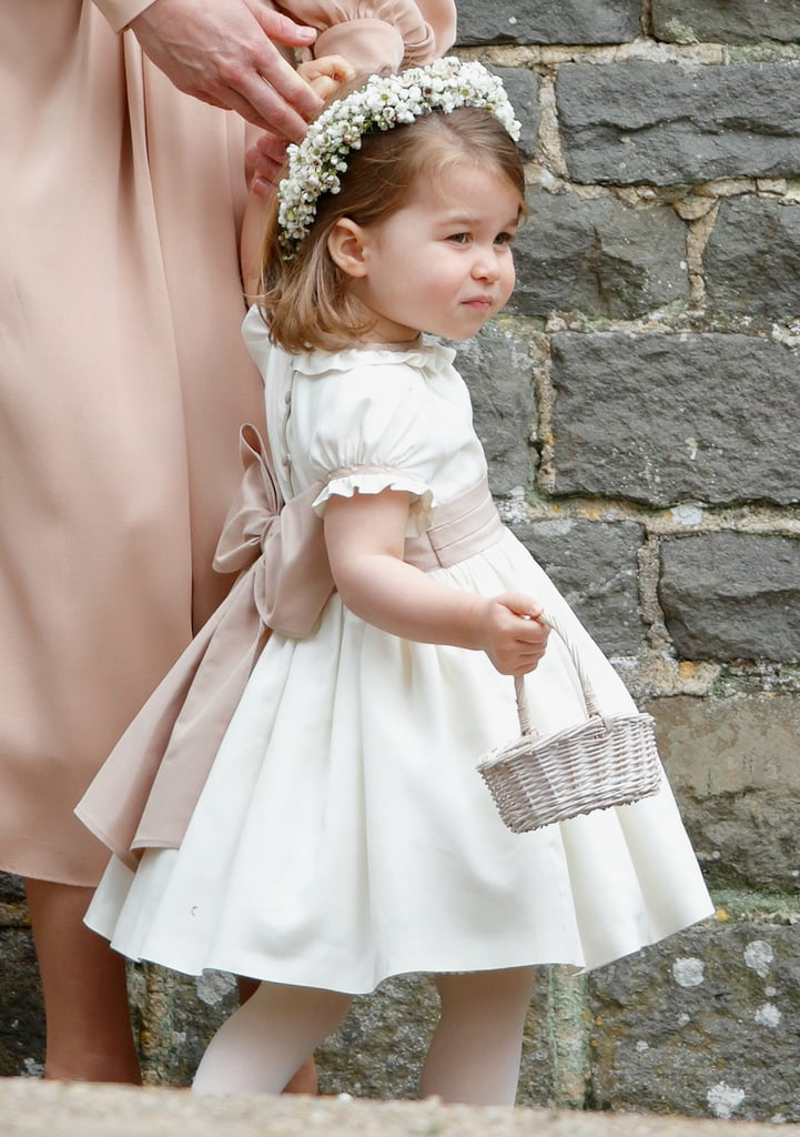 Princess Charlotte was the picture of a perfect flower girl at Pippa Middleton and James Matthews's May wedding.