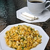 A dish made of hominy corn and eggs, mote pillo is a versatile Ecuadorian dish that can be served for breakfast, at brunch, or even as a side to meat dishes at dinnertime.