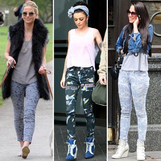 Sarah Harding, Cher Lloyd and Tulisa in Printed Denim Trend