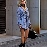 Buckle a Choker Around Your Neck to Add Edge to a Flouncy Romper
