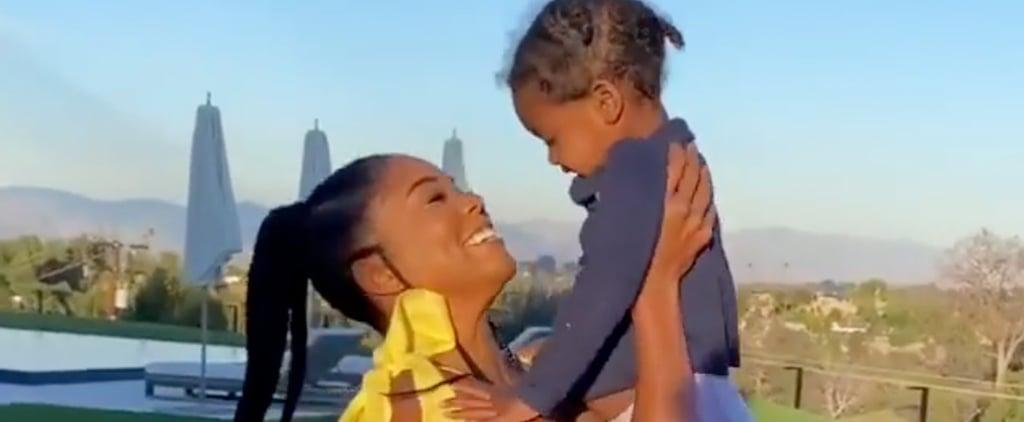 Gabrielle Union Teaches Kaavia James How to Go Down a Slide