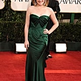 Elisabeth Moss Makes a Statement in Green at the Golden Globes