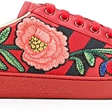 Nothing screams Spring like these Gucci Ace Embroidered Low-Top Sneakers ($695).