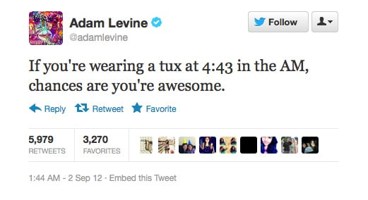 Adam Levine dishes out some style advice.