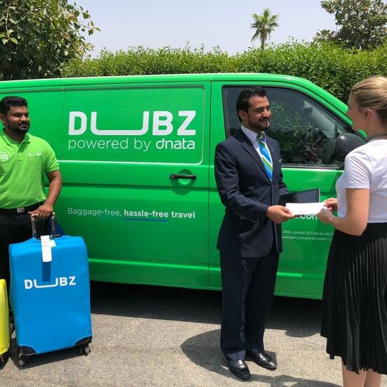 خدمة تسلم مجموعات الحقائب في مطار دبي