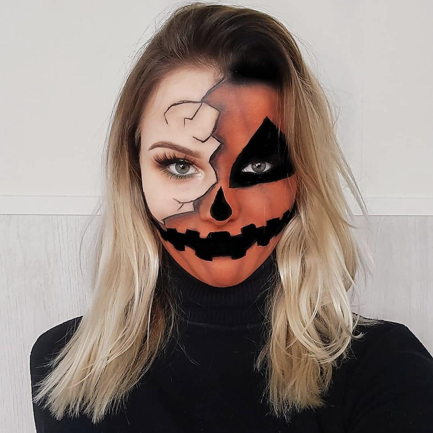 Half,Face Halloween Makeup Ideas