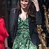 """أبريل: أثارت ميغان غيرتنا بثوبها الأخضر في حفل افتتاح ألعاب """"إنفكتوس"""" في لندن."""