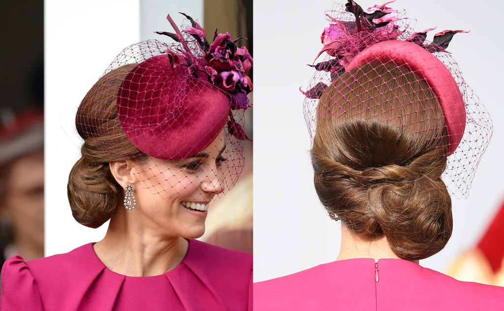 Kate Middleton's Messy Side Bun, 2018