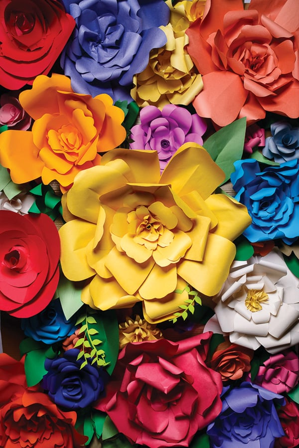 Colorful paper flowers flower diys for spring popsugar smart colorful paper flowers mightylinksfo