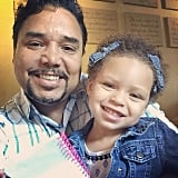 Ayesha Curry got toothy smiles from the ever-adorable Riley and her grandpa.