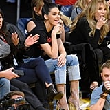 Kendall Jenner Knows Sitting Courtside Is the Perfect Time to Show Off a Cool Pair of Boots