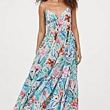 H&M Textured-Weave Maxi Dress