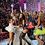 When the models cavorted in a big, beautiful glitter shower in 2011