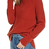 Treasure & Bond Mock Neck Sweater
