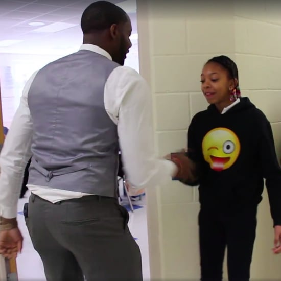 Teacher Has Personalized Handshakes For Every Student