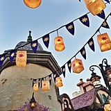 There are lots of Tangled details in the area, including these gorgeous lanterns.