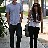 Liam Hemsworth and Miley Cyrus were all smiles while out in LA in January 2010.