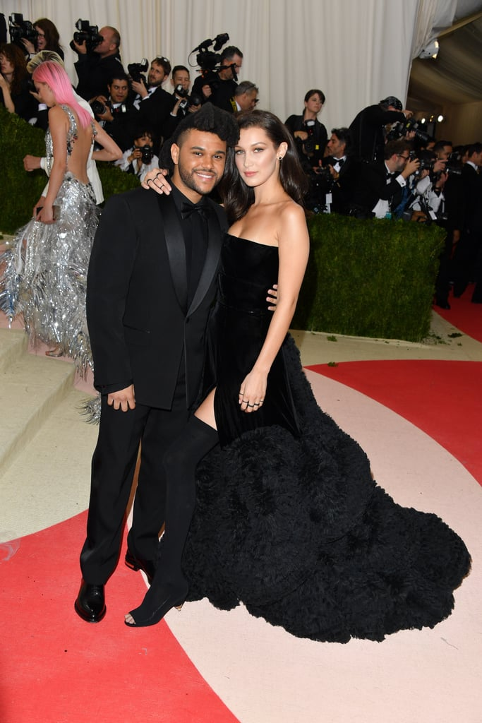 "Bella Hadid and The Weeknd made their red carpet debut at the Grammys earlier this year, but these two have been going strong for quite some time now. The young couple has been an item since April 2015, but it wasn't until five months later that they went public with their romance in NYC. Since then, the world's gotten a glimpse of The Weeknd's courtly manners, as well as the duo's steamy chemistry, which they so proudly flaunted in his ""In the Night"" music video.  Read on to see more of Bella and The Weeknd's blossoming romance."