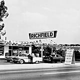 A Richfield Gas Station in Los Angeles in the late 1950s
