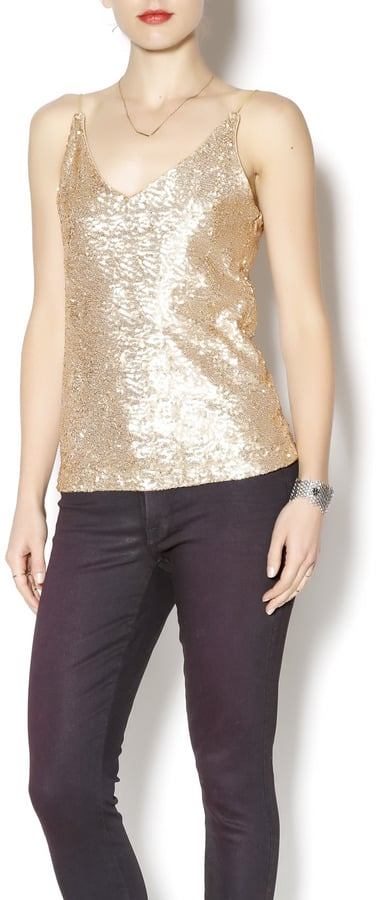 Six Crisp Days Gold Sequin Tank