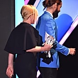 Jared Leto's Bun From the Side