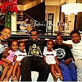 Diddy kicked back with his family on Father's Day. Source: Instagram user iamdiddy