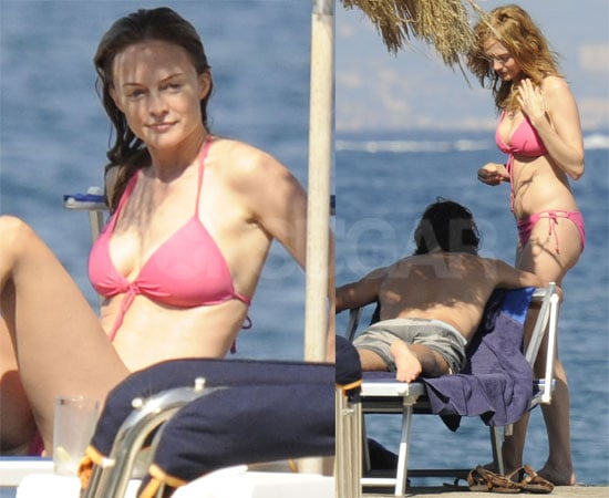 Pictures of Heather Graham on the Beach in a Bikini