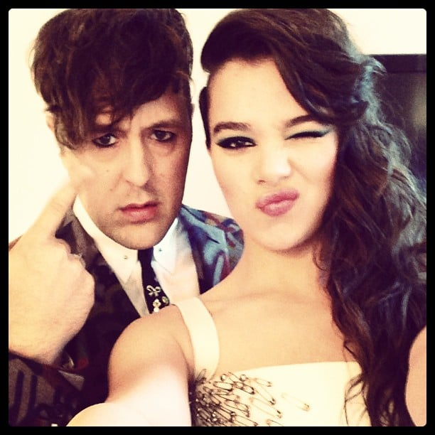 Hailee Steinfeld put her punkiest pose forward with Teen Vogue's Andrew Bevan. Source: Instagram user bevansburg