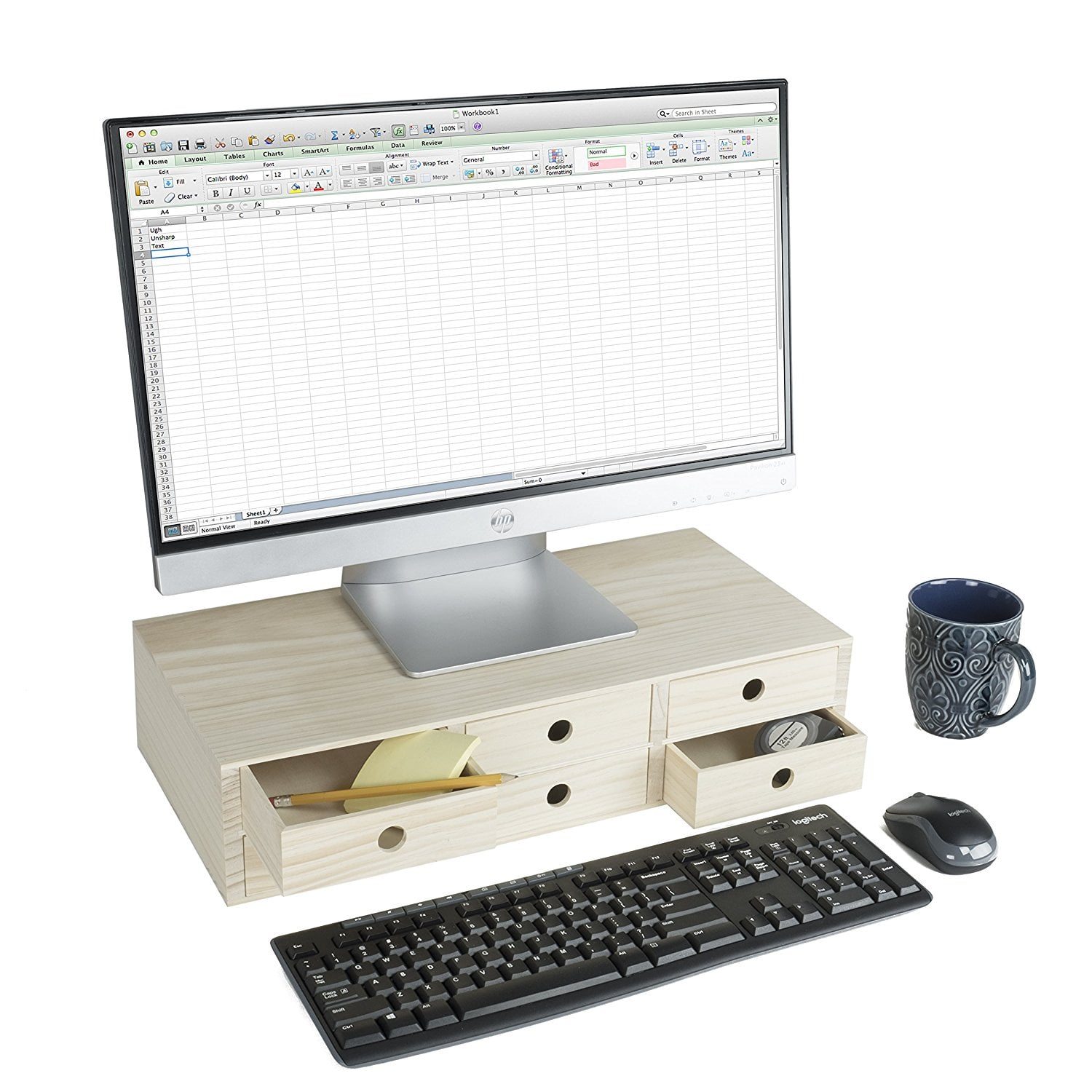 Multipurpose Desk Shelf Organizer And Monitor Riser