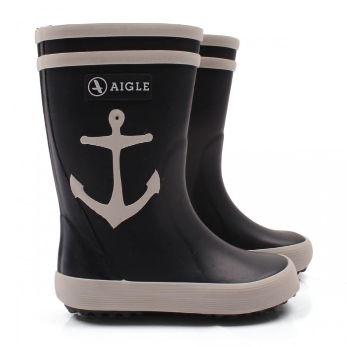 Telling the rain, rain to go away looks oh so cute in Aigle's anchor Wellington boots ($49).