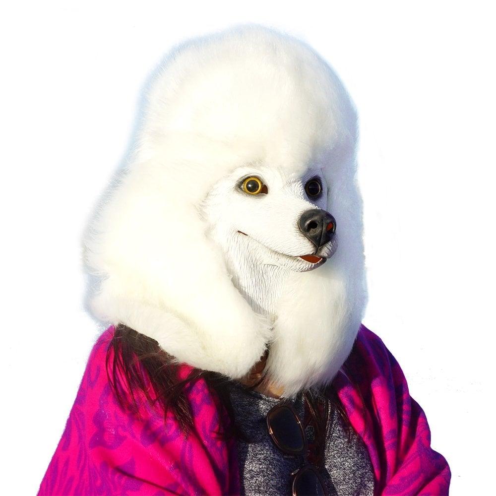 CreepyParty Underdog Dog Head Mask Poodle