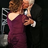 Dick Van Dyke got a kiss from wife Arlene Silver before taking the stage to accept the Life Achievement Award.