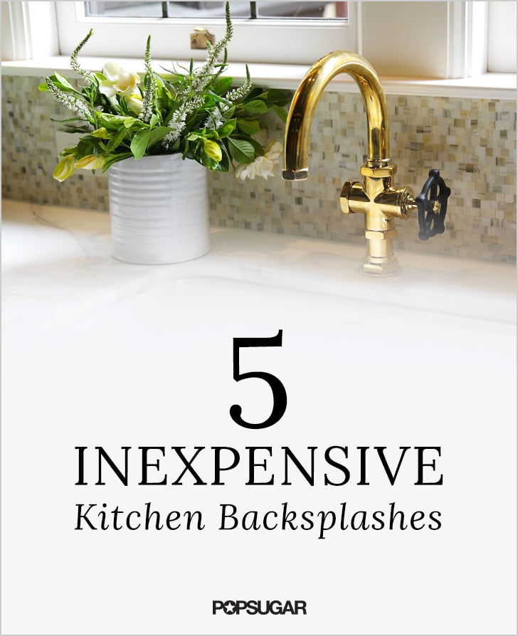 diy kitchen backsplashes popsugar home - Diy Kitchen Backsplash