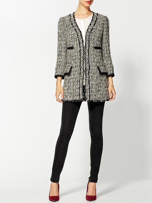 This Aryn K. tweed coat ($169) will keep you sophisticated and warm. Top it over your LBD to instantly amp up the look.