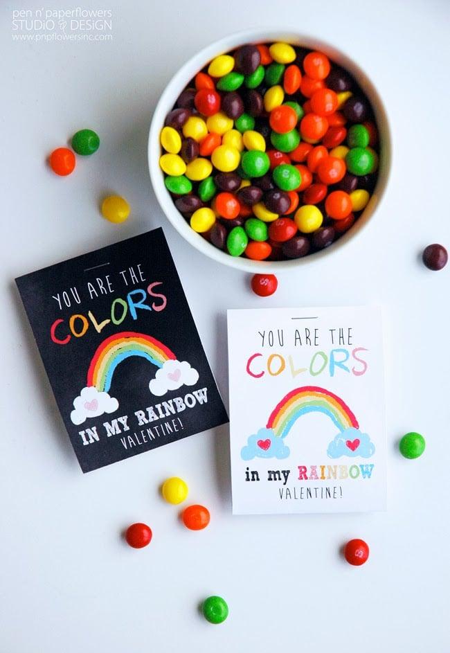 Rainbow Valentine's Printable