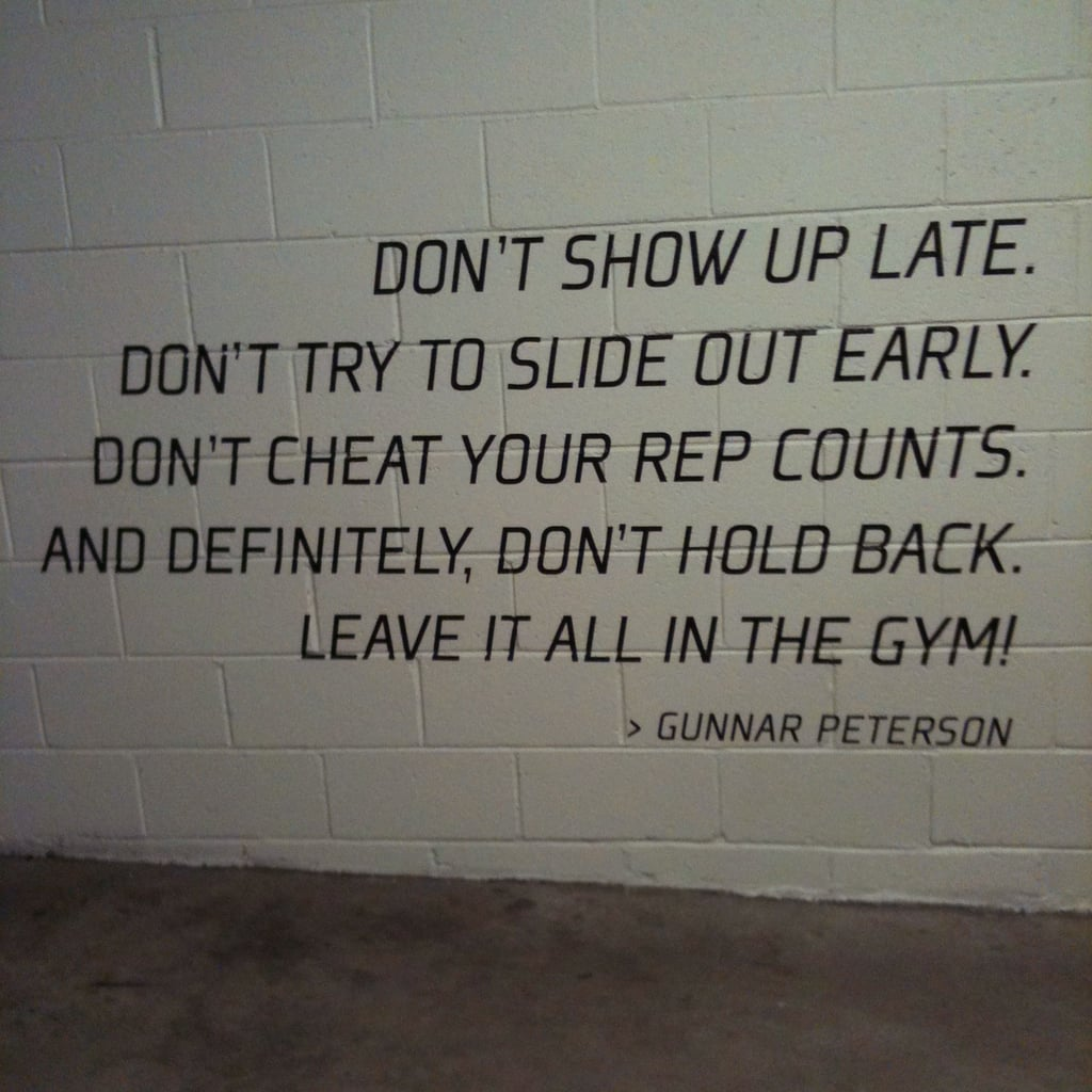 Painted in parking garage at celeb trainer gunnar peterson s gym
