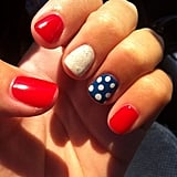 Stars not your bag? Polka dots are just as sweet. Source: Twitter user OKCbelles