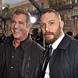 With Mel Gibson at the Mad Max: Fury Road LA premiere in 2015.