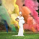Mom's Rainbow Maternity Photos