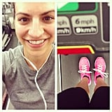 Even after a round of high-intensity intervals on the treadmill, this reader was all smiles! Source: Instagram user wannabehealthnut