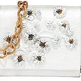 Nancy Gonzalez Crocodile Floral Crossbody Bag, White/Gold ($2,950)
