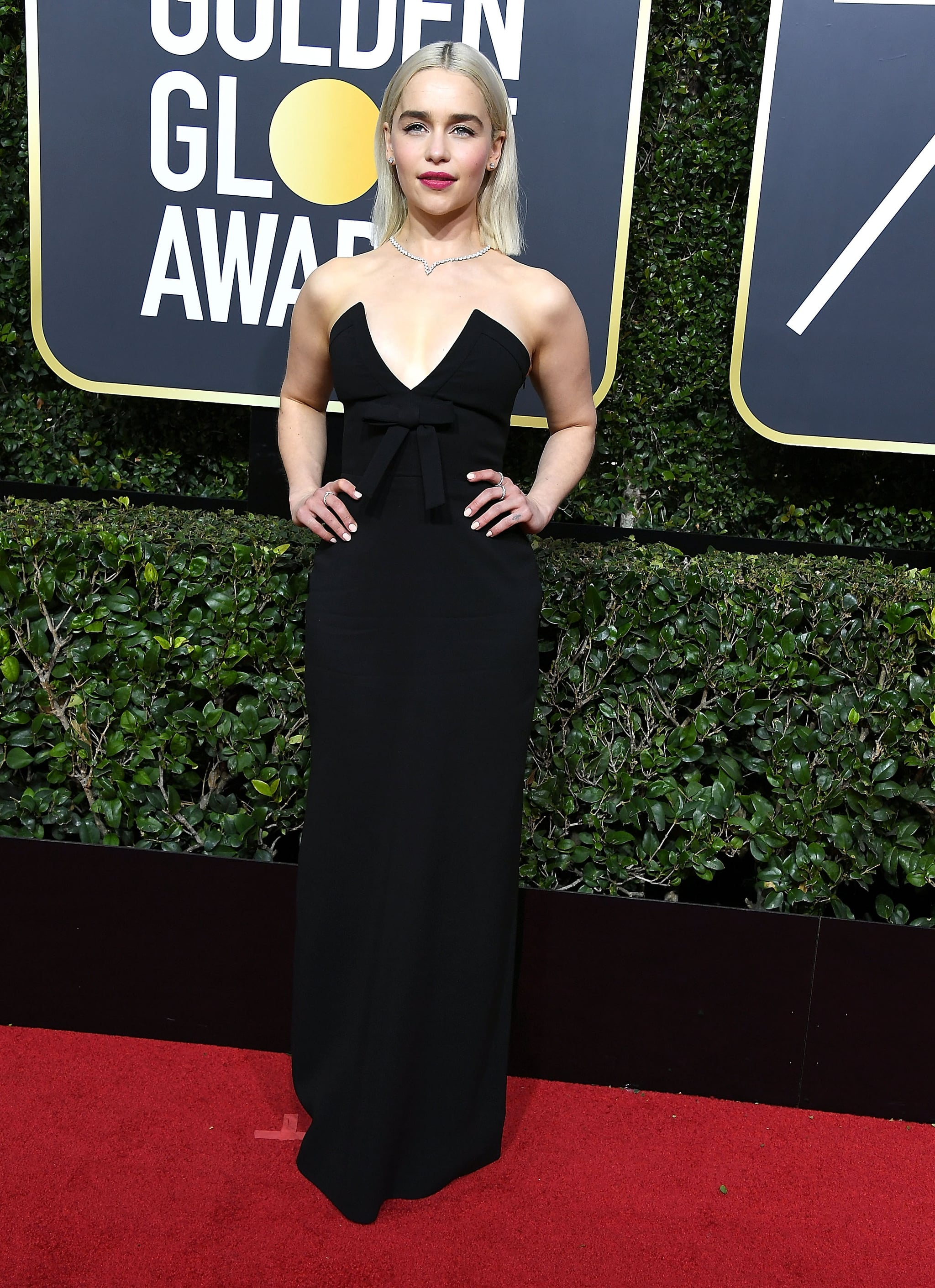 BEVERLY HILLS, CA - JANUARY 07:  Emilia Clarke arrives at the 75th Annual Golden Globe Awards at The Beverly Hilton Hotel on January 7, 2018 in Beverly Hills, California.  (Photo by Steve Granitz/WireImage)