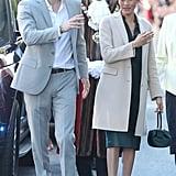 ميغان ماركل تحمل حقيبة Hearst Gabriela في شهر أكتوبر 2018