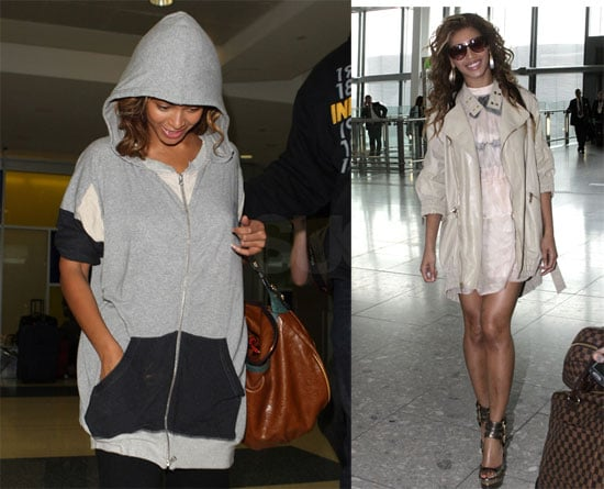 Photos of Beyonce Knowles at Heathrow, JFK, Video of Her Duet with George Michael in London