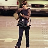 Natalie Portman fastened baby Aleph into a carrier.